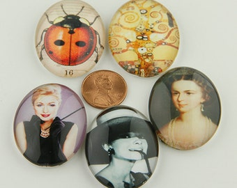 Cabochons Mixed Pictures -Eight- Oval
