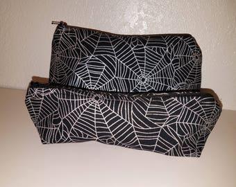 Silver Spider Webs Bag Set