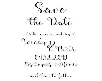 Whimsical Style Save the Date Card for Wedding and Engagement