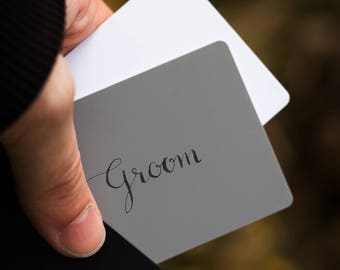 Wedding Prompt Cards, Handwritten Lettering in Modern Calligraphy