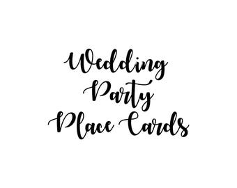 Wedding Party Place Cards - DIY Printable
