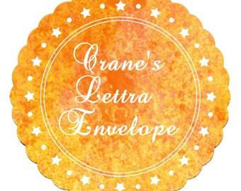 Crane's Lettra Pearl White A6 100% Cotton Envelope Square Flap