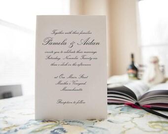 Wedding Invitation with RSVP Card, Envelope, Wedding Map, Custom Illustration, Custom Calligraphy and more