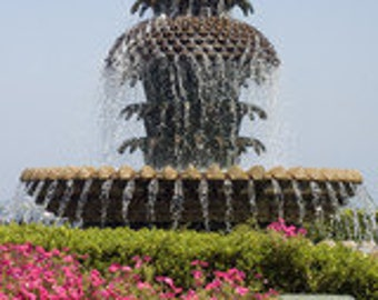 Pineapple Fountain in Charleston, South Carolina - Fine Art Photographic Print