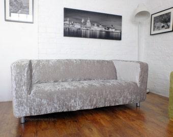 Slip Cover For The Ikea Klippan Range Sofa Luxury Shimmer Velvet Fabric