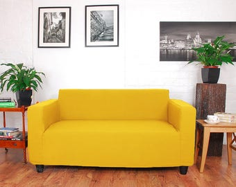Ikea Klobo Sofa Slip Cover In Easy To Fit Fabric, Fully Machine Washable.  Marigold