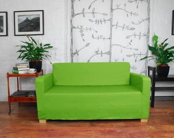 Slip Cover To Fit The Ikea Solsta Sofa Bed In Cerise Easy Fit Etsy