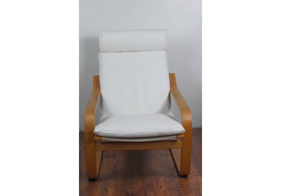 Housse Pour La Chaise Poang De Chez Ikea En Tissu Simili Cuir Etsy