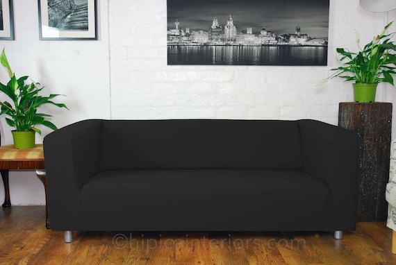 Ikea Klippan custom made sofa Slip Covers. Easy to fit Black
