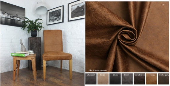 Etonnant Ikea Henriksdal Dining Chair Cover In Distressed Leather Look   Etsy
