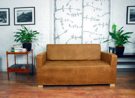 Slip Cover For The Ikea Klobo Sofa In Distressed Leather Look Etsy