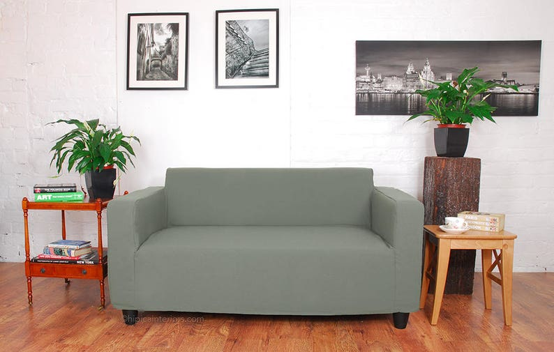 Swell Ikea Klobo Sofa Slip Cover In Easy To Fit Fabric Fully Machine Washable Sage Squirreltailoven Fun Painted Chair Ideas Images Squirreltailovenorg