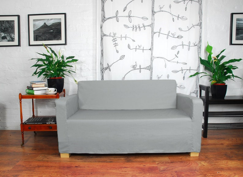 Remarkable Slip Cover To Fit The Ikea Ullvi Sofa Bed Silver Grey Gmtry Best Dining Table And Chair Ideas Images Gmtryco
