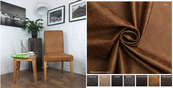 Magnificent Ikea Henriksdal Bar Stool Slip Cover In Distressed Leather Look Fabric Picture Shows Chair Cover Machost Co Dining Chair Design Ideas Machostcouk