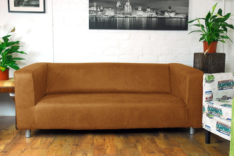 Ikea Klippan range Sofa covers in Distressed leather look fabric 8 Colours  available