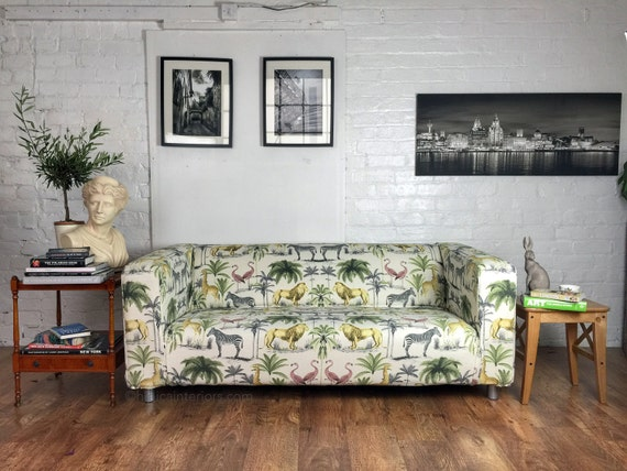 Ikea Klippan Sofa Or Footstool Cover In Beautiful Safari Or