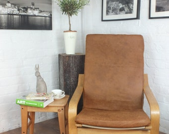 Ikea Poang Slipcover In stunning vintage Honey distressed  leather Look