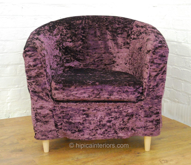 slip cover for the ikea ektorp tullsta tub chair aubergine. Black Bedroom Furniture Sets. Home Design Ideas