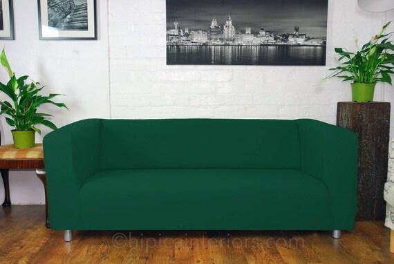 Ikea Klippan Custom Made Sofa Slip Covers Easy To Fit Bottle Green