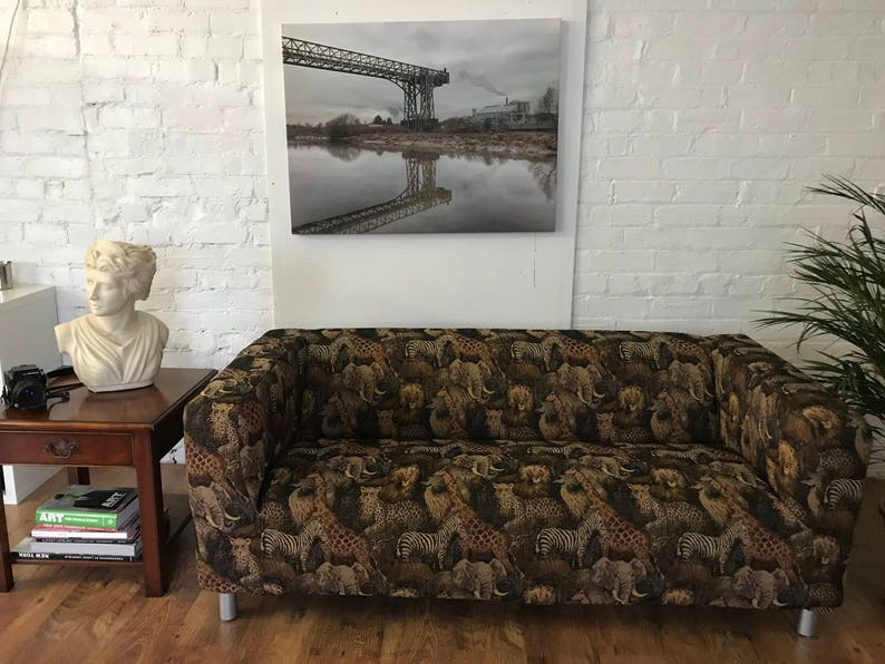 Ikea Kippan 2 Seat Or Compact Sofa Cover In Serengeti Print Tapestry Fabric