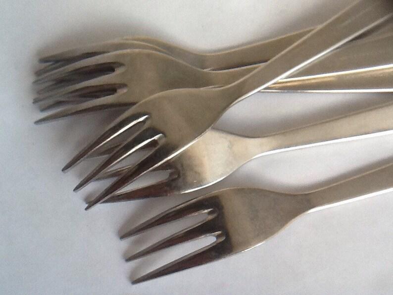Vintage set of 6 stainless steel viners Chelsea table  dinner forks