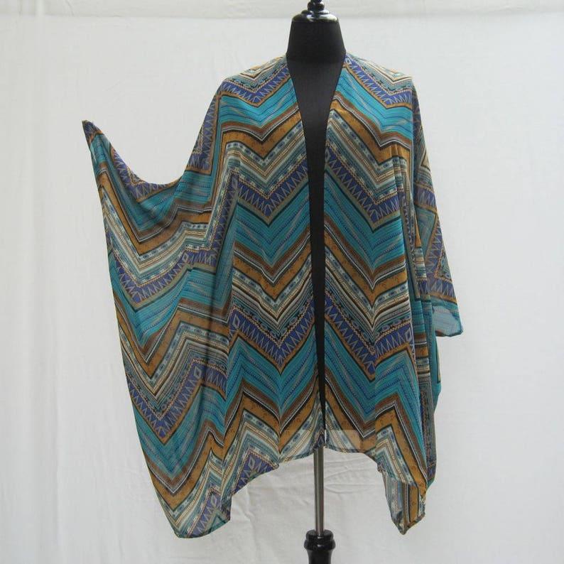87934af250 Aqua Kimono plus size jacket blue cover up boho cardigan | Etsy