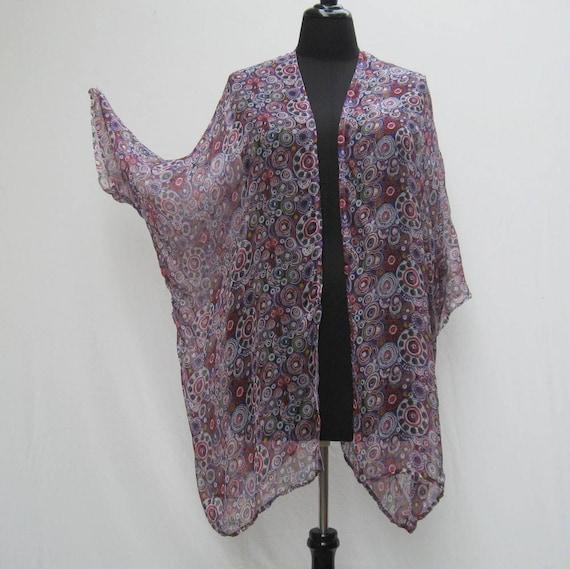 White And Purple Kimono White Silk Kimono Plus Size Kimono Etsy