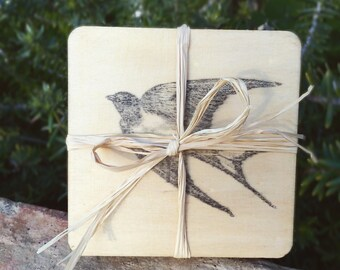 Wood Coasters- Bird Theme