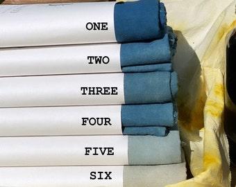 Naturally Hand Dyed Linen - Indigo
