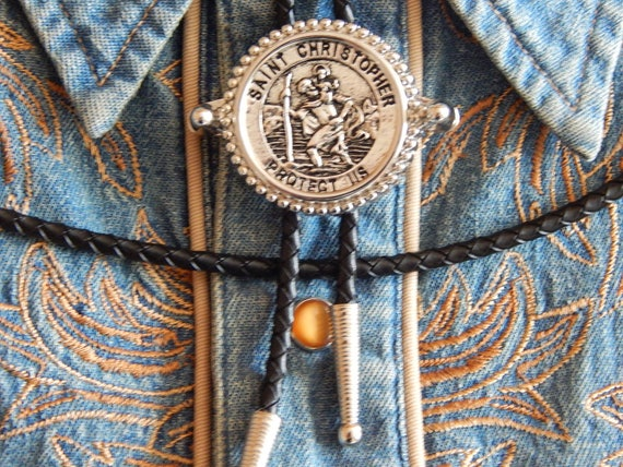 GOLD METAL BOLO BOOTLACE TIE WESTERN COWBOY NEW USA  AMERICAN HALF DOLLAR COIN