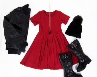 Girls Red Twirly Dress 80faef63a