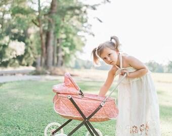 Toddler Girls Cream Halter Maxi Dress, Girls Toddler Maxi Dress, Girls Toddler Dress, Summer Dress - Sizes 2T, 3T, 4T, 4/5  Ready to Ship