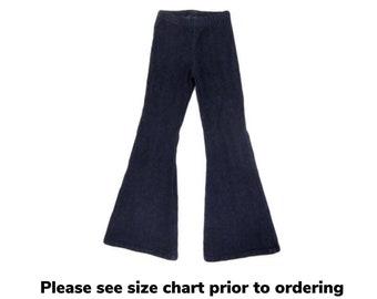 Girls Denim Bell Bottom Pants, Girls Bell Bottoms, Jean Bell Bottoms, Bell Bottom Pants - Sizes 2/3, 4/5, 6/6x, 7/8, 10/12, 14 Ready to Ship
