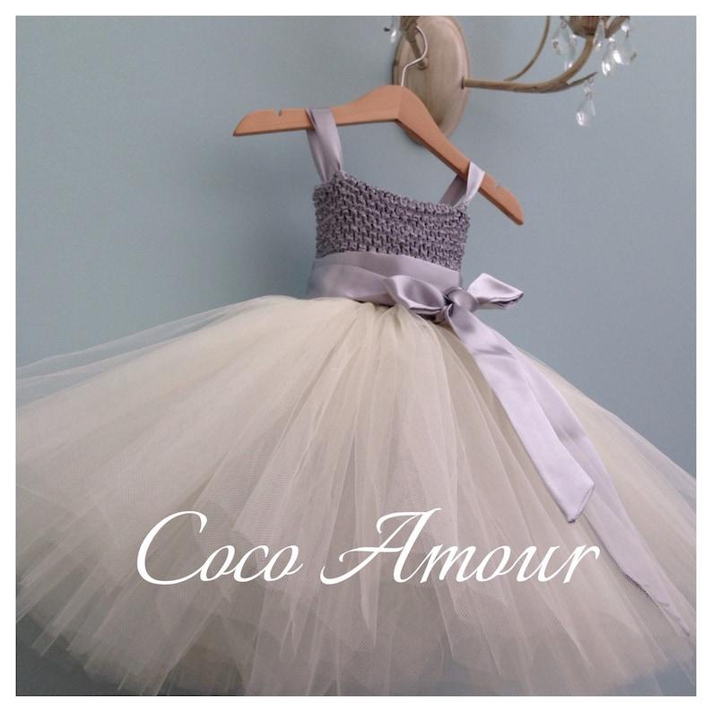 Tutu Style Flower Girl Dress  Tutu Dress  junior Bridesmaid image 0