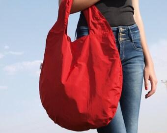 Red Hobo Bag for women, Large Tote Bag, Slouchy Bag, Womens Shoulder Bag, Vegan Bag, Everyday Oversized Handbag