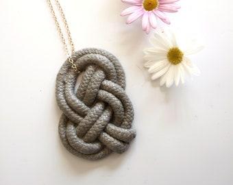 Infinity knot necklace, Concrete jewelry, Josephine Knot large pendant necklace, Irish Jewelry, Celtic jewelry, Celtic knot necklace Gold