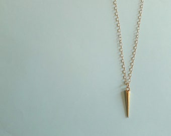 Modern spike pendant necklace • Layering necklace for women • Bridesmaids gift • Wedding jewelry •  Mother of the  bride necklace •
