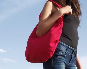 Large pink tote bag for women, Boho hobo bag, Cute Slouchy Bag, Womens Shoulder Bag, Vegan Bag, Everyday Oversized Handbag