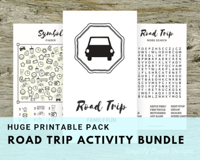 Road Trip Kids Activity Set  16 Pages of Printable image 0