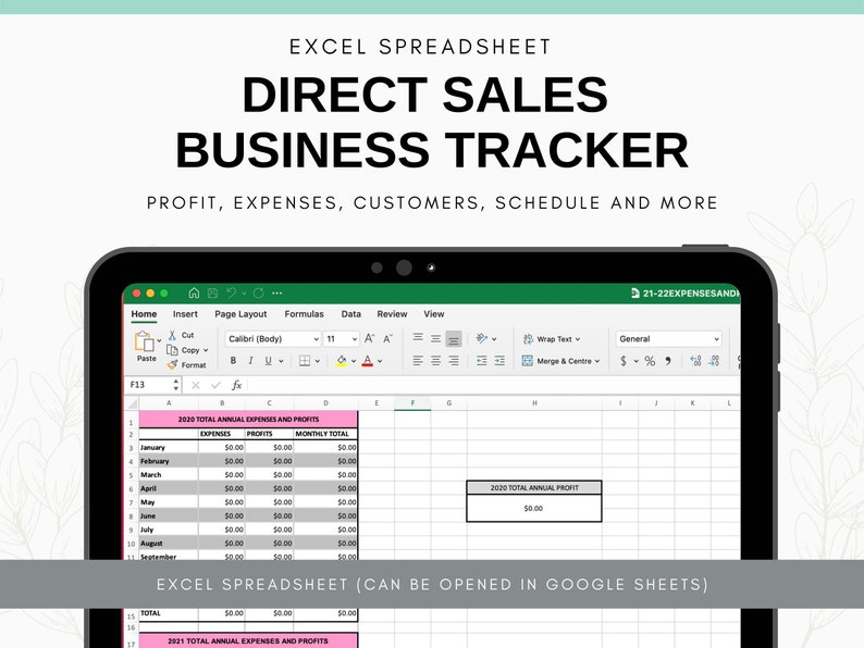 Direct Sales Planner  Party Plan Direct Sales Income Tracker image 1