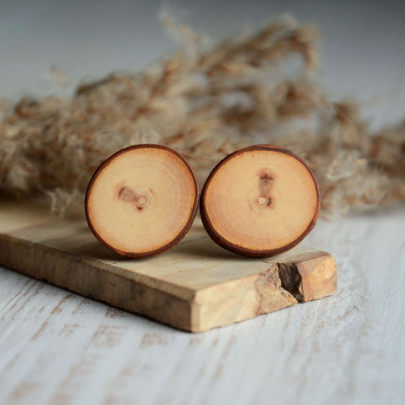 9th anniversary willow wood cufflinks  Gift idea for the 9th image 0