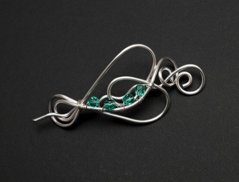 Silver shawl pin,silver wire heart shape pin sweater brooch,scarf brooch