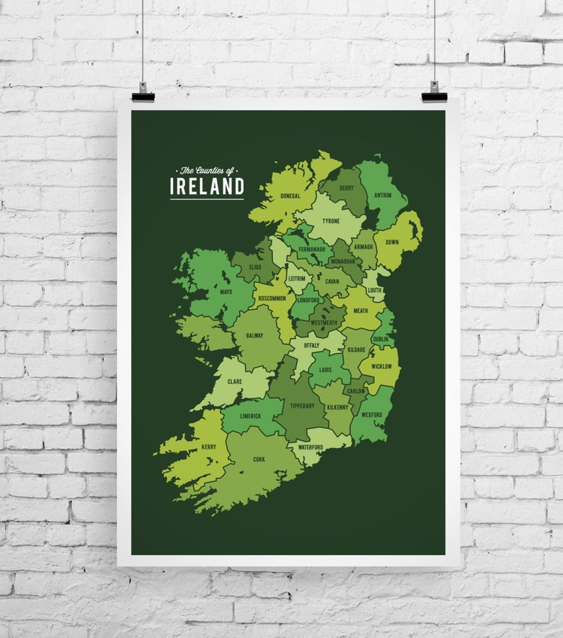 Print Map Of Ireland.Map Of Ireland Art Ireland Map Ireland Art Print Map Inspired Print Ireland Map Print Modern Map Art Ireland Inspired Art