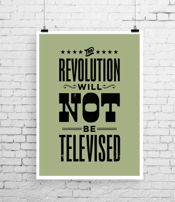 the revolution will not be televised song