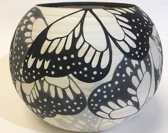 Large butterfly pot