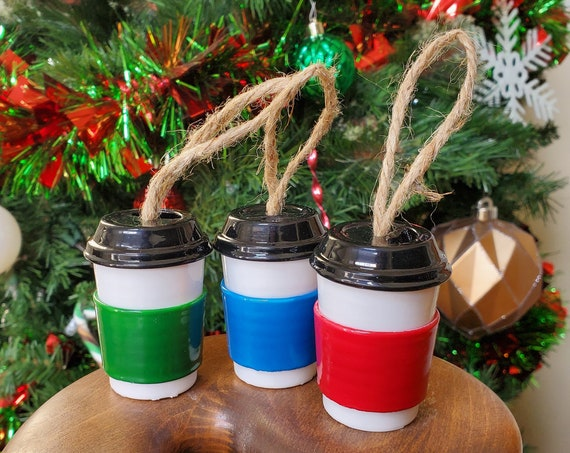 3 Pack Coffee Cup Ornament