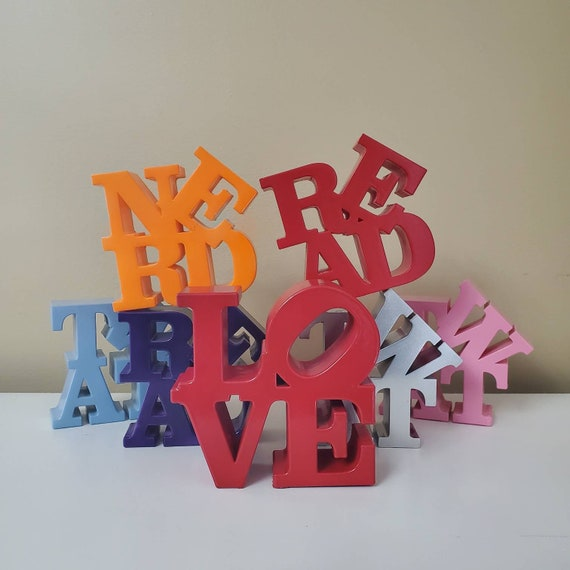 Custom Four Letter Statues