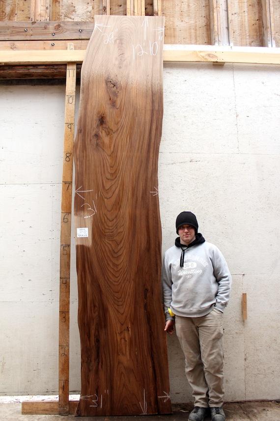 Natural Wood Slab Bar Top Custom Wooden Countertop Diy Rustic Etsy