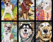 Custom Watercolor Pet Por...
