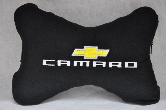 One 1 Piece Chevrolet Camaro Logo Embroidery Car Seat Etsy